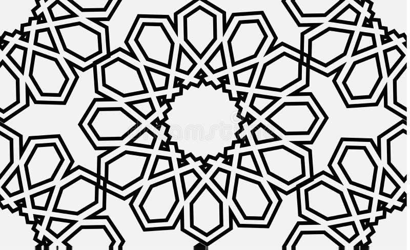 伊斯兰教的无缝的传染媒介样式 库存例证