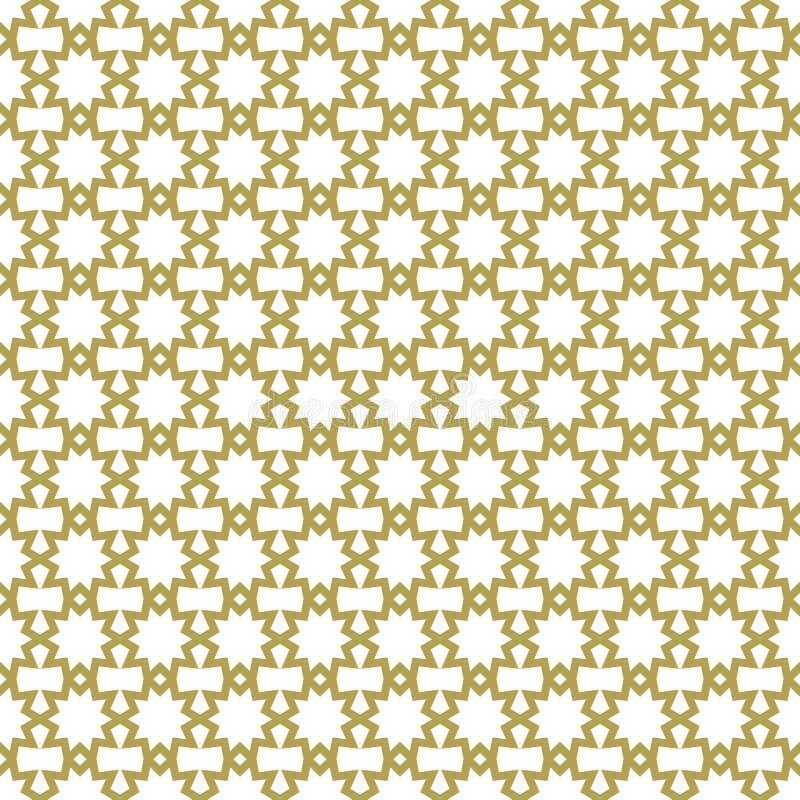 伊斯兰教的无缝的样式 阿拉伯几何背景 东部模板设计 传统亚洲重复纹理 典雅的纹理 皇族释放例证