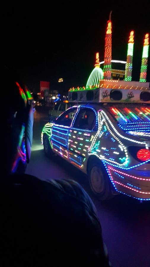 伊斯兰教的汽车 免版税库存照片