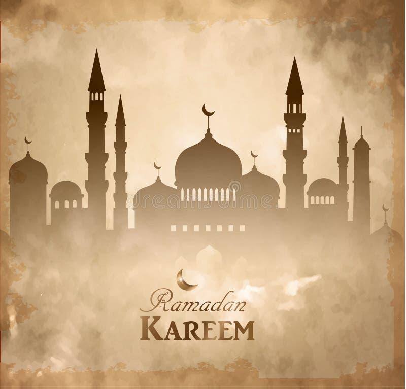 伊斯兰教的清真寺haram和aqsa剪影 向量例证