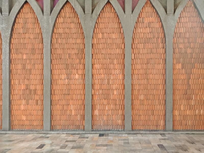 伊斯兰教的织法瓦片墙壁和地板背景的 库存照片