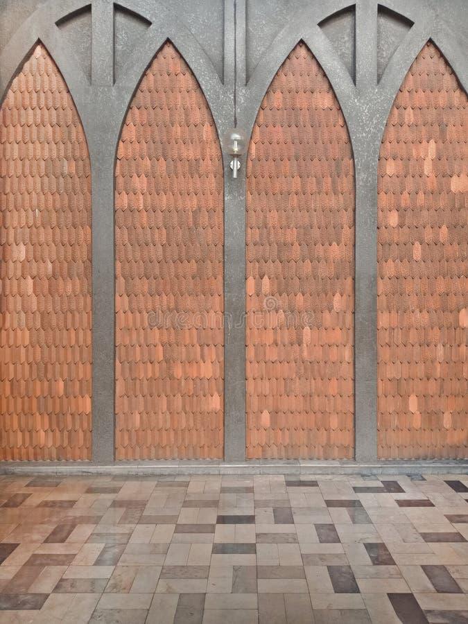 伊斯兰教的织法瓦片墙壁和地面背景的 库存照片