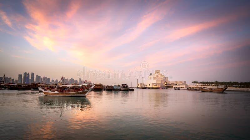伊斯兰教的美术馆,多哈,卡塔尔 库存图片