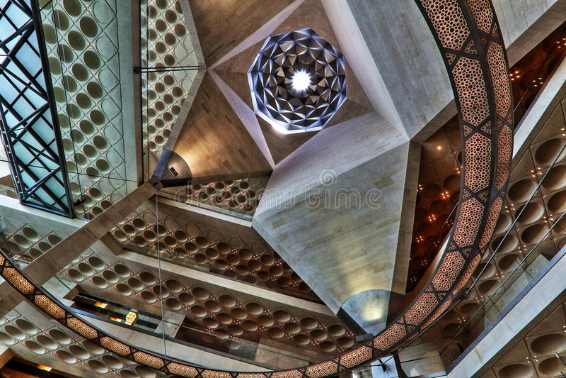 伊斯兰教的艺术博物馆在卡塔尔,多哈 免版税图库摄影
