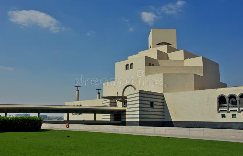 伊斯兰教的艺术博物馆在多哈卡塔尔 免版税库存图片