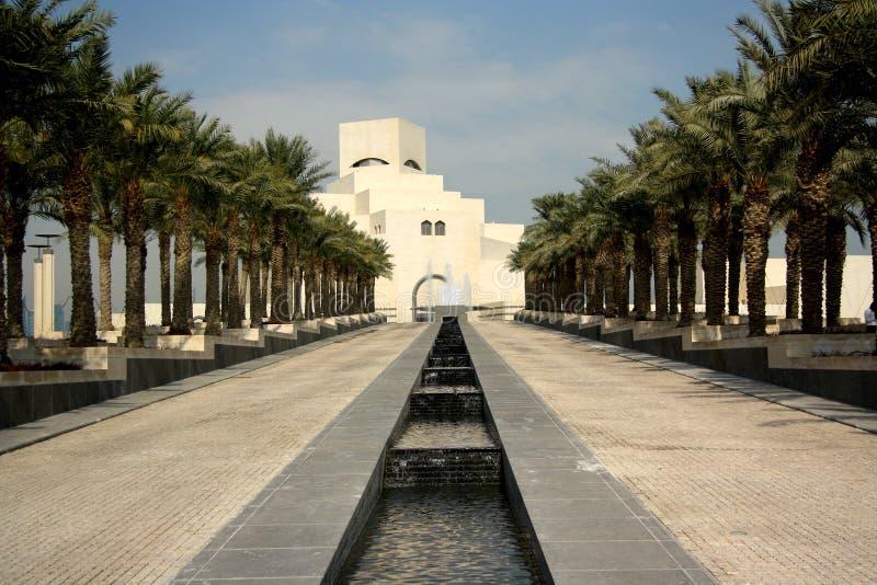 伊斯兰教的艺术博物馆在多哈,卡塔尔 免版税图库摄影