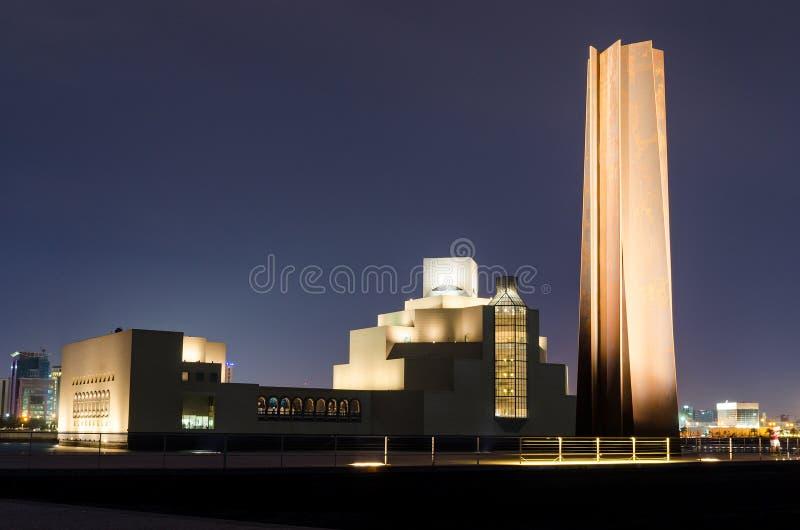 伊斯兰教的艺术多哈,卡塔尔博物馆  免版税库存图片