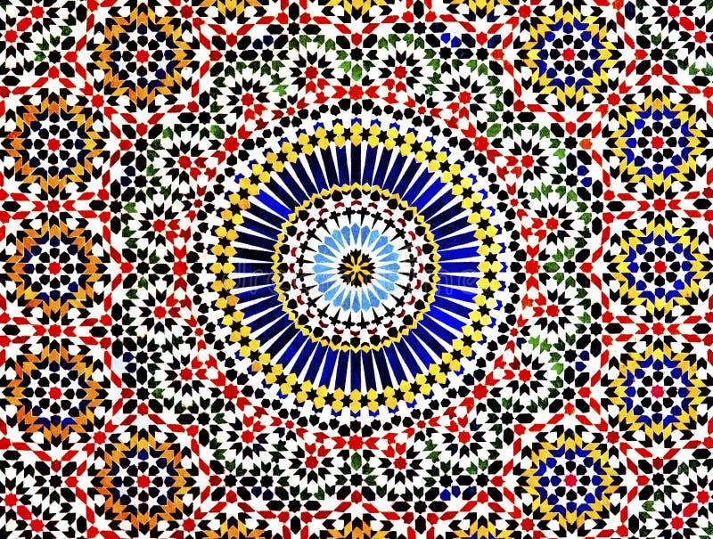 伊斯兰教的马赛克,摩洛哥 免版税图库摄影