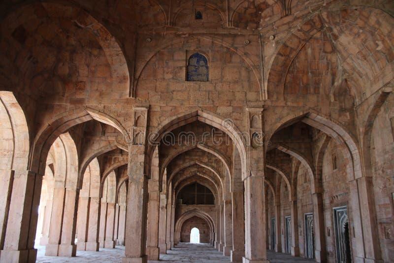 伊斯兰教的建筑学, jami masjid, mandu,中央邦,印度 免版税库存照片