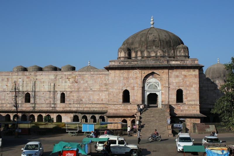 伊斯兰教的建筑学, jami masjid, mandu,中央邦,印度 库存图片