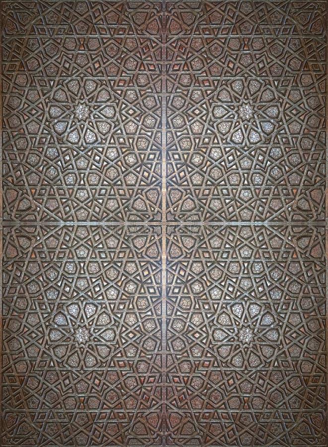 伊斯兰木纹理 免版税库存图片