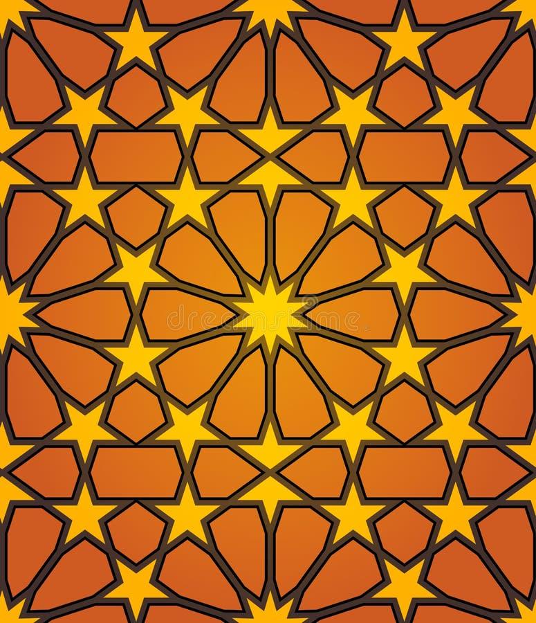 伊斯兰模式无缝的星形 向量例证