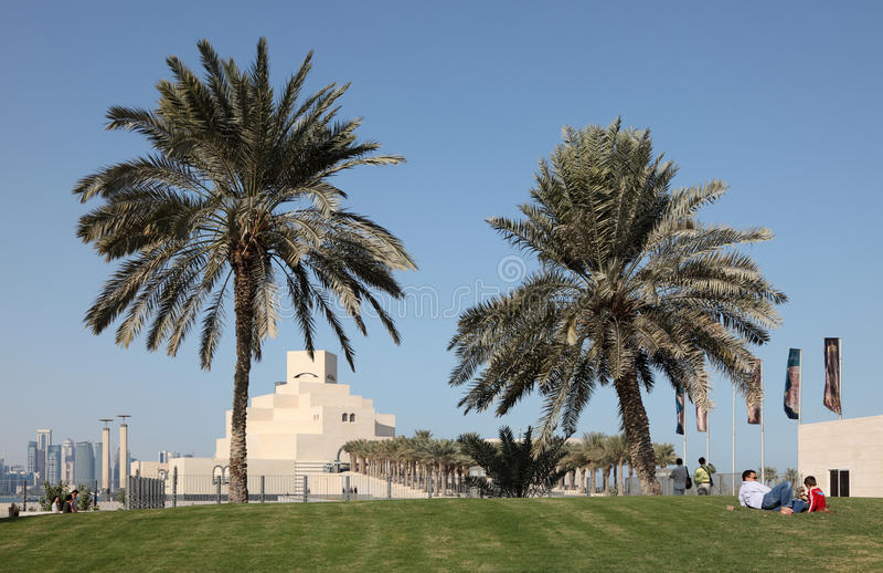 伊斯兰艺术博物馆在多哈 库存图片