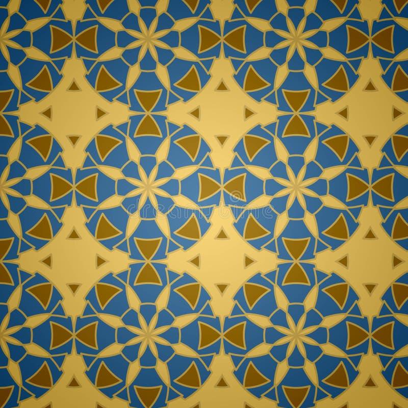 伊斯兰装饰模式无缝的向量 库存例证