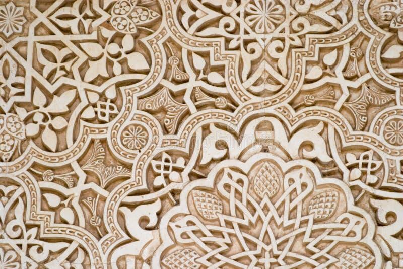 伊斯兰阿尔汉布拉的艺术 库存照片