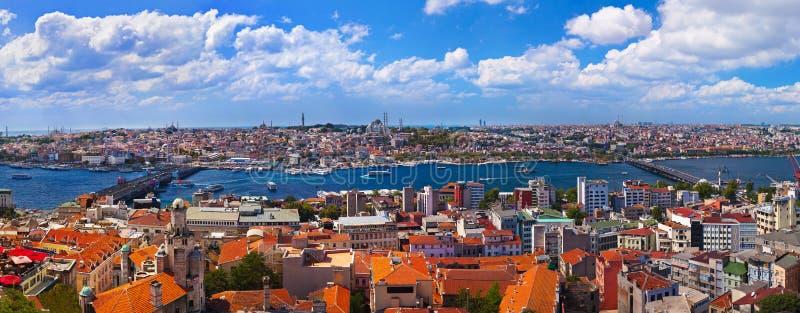 伊斯坦布尔全景火鸡 免版税图库摄影