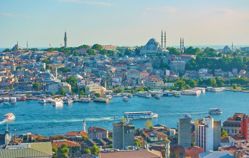 伊斯坦布尔全景 库存照片