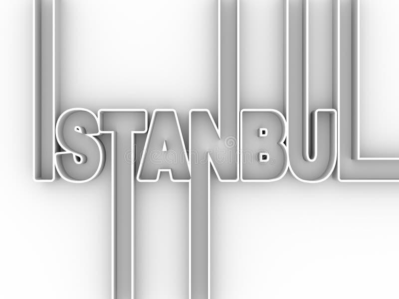 伊斯坦布尔市名字 皇族释放例证