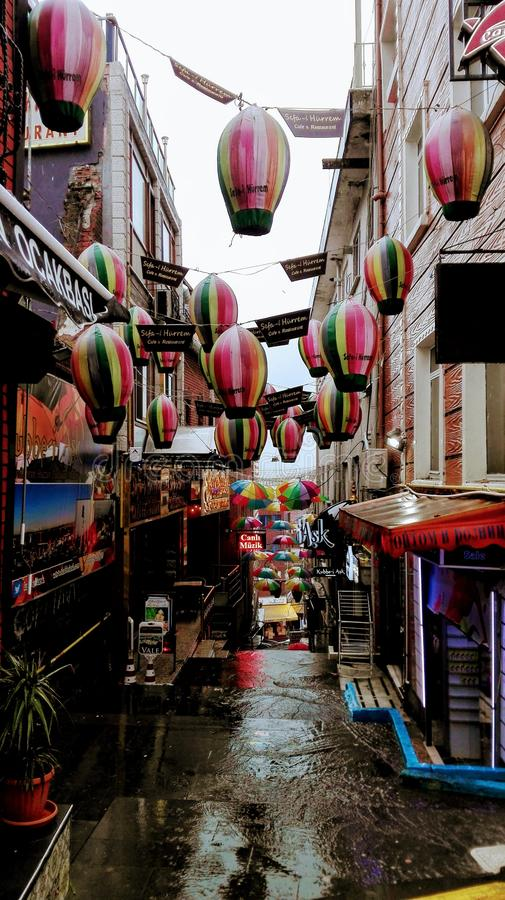 伊斯坦布尔步行街道  免版税库存照片