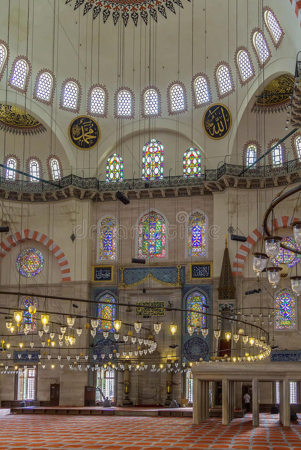 伊斯坦布尔清真寺suleymaniye 免版税图库摄影