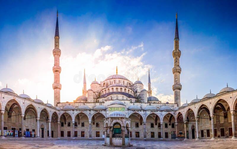 伊斯坦布尔蓝色清真寺 图库摄影