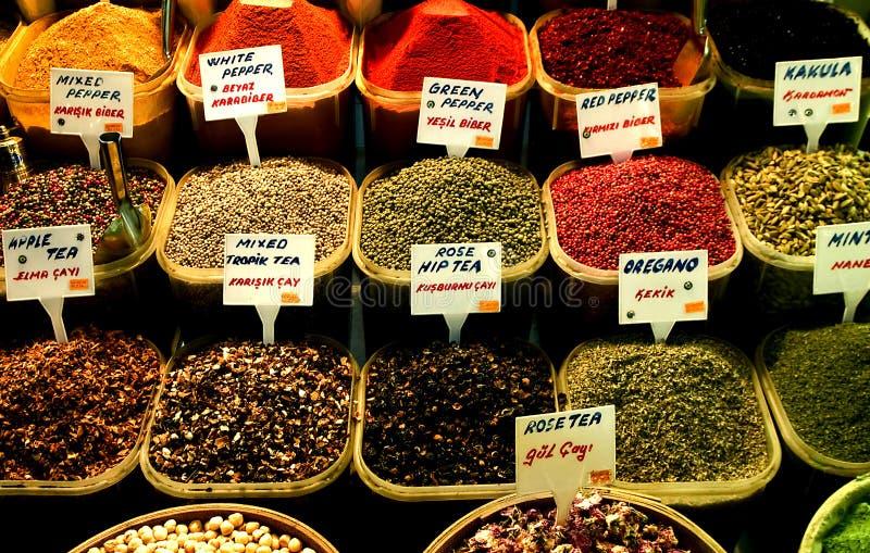 伊斯坦布尔选择香料 库存照片