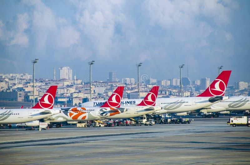 伊斯坦布尔阿塔图尔克机场 免版税库存照片