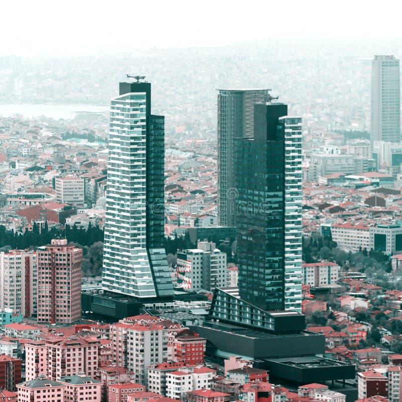 伊斯坦布尔鸟瞰图 免版税库存照片