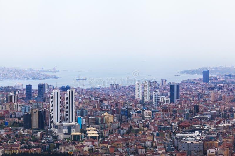 伊斯坦布尔鸟瞰图 库存照片