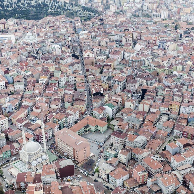 伊斯坦布尔鸟瞰图 免版税库存图片
