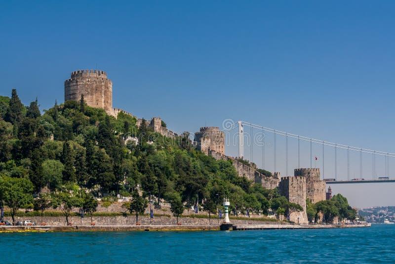 伊斯坦布尔,土耳其,2012年6月12日:Rumeli Hisari,奥托曼堡垒 免版税库存照片