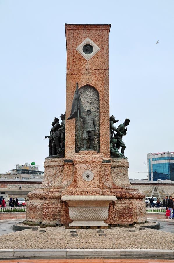 伊斯坦布尔,土耳其- 2014年11月23日:纪念碑 图库摄影