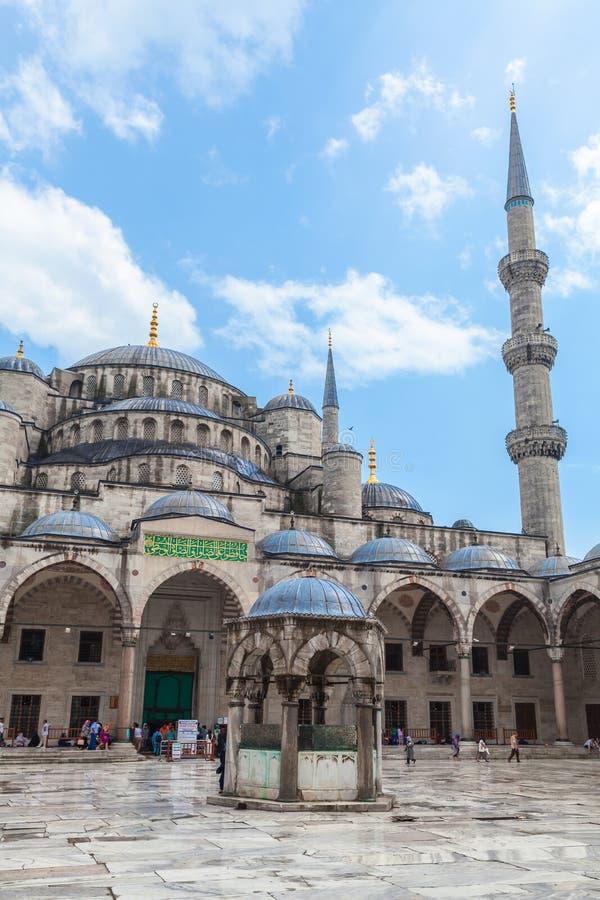 伊斯坦布尔,土耳其 苏丹阿哈迈德清真寺 免版税库存照片