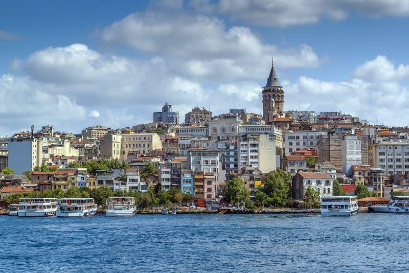伊斯坦布尔Beyoglu地区,土耳其看法  图库摄影