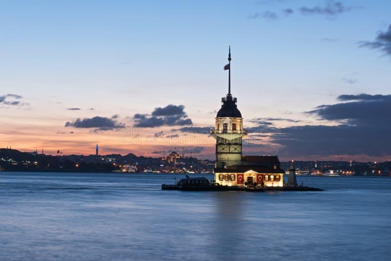 伊斯坦布尔leanders塔 免版税库存图片