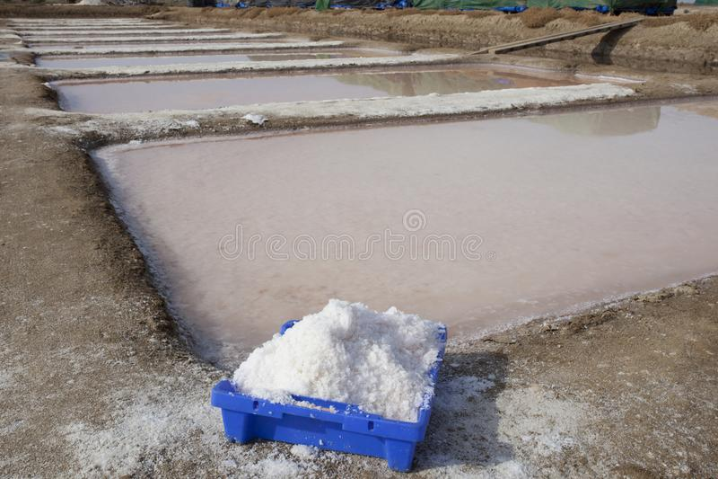 伊斯拉克里斯蒂纳盐厂,韦尔瓦省,西班牙 免版税库存照片