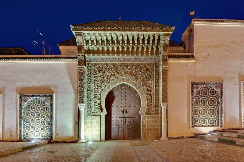 伊斯梅尔陵墓meknes moulay的摩洛哥 免版税库存图片