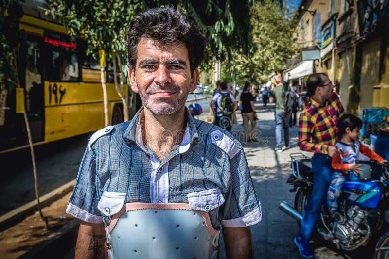 伊朗人画象  图库摄影
