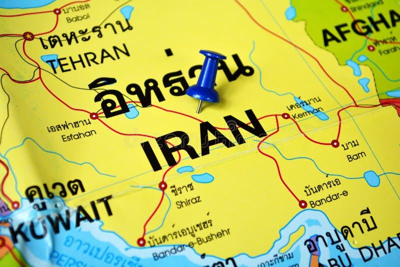 伊朗映射 免版税库存图片