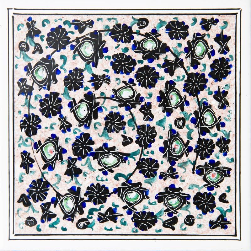 伊朗装饰瓷砖 库存图片