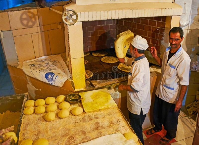 伊朗面包师,克尔曼 免版税库存照片