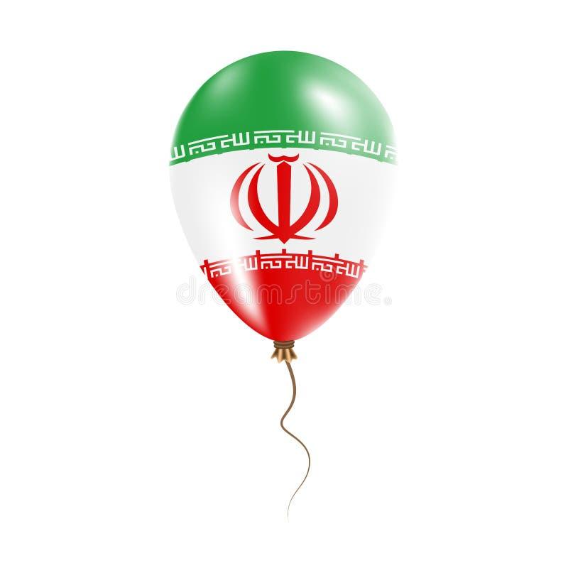 伊朗,气球伊朗伊斯兰共和国有旗子的 库存例证