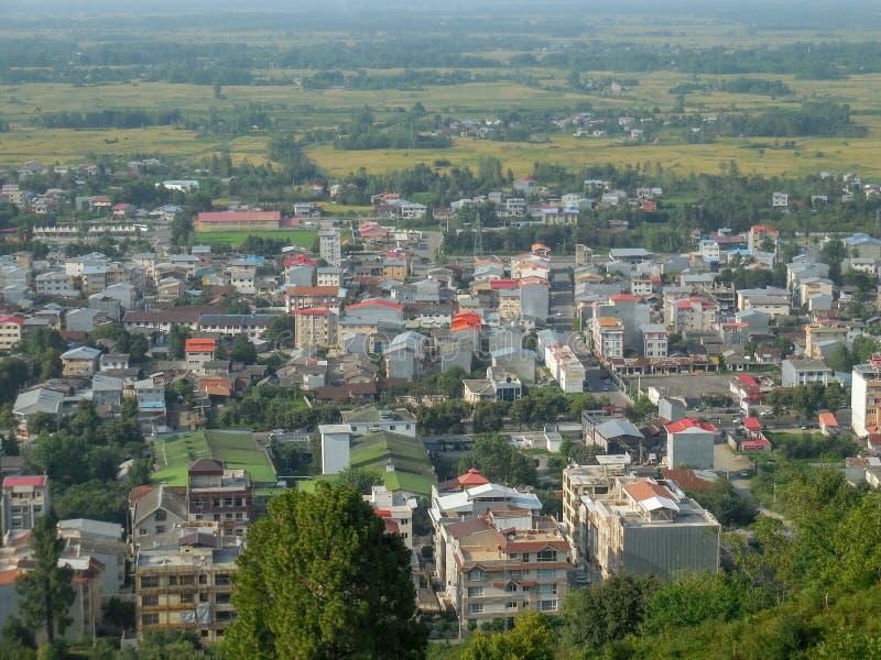 伊朗,Gilan的北部的一个美丽的城市 库存照片
