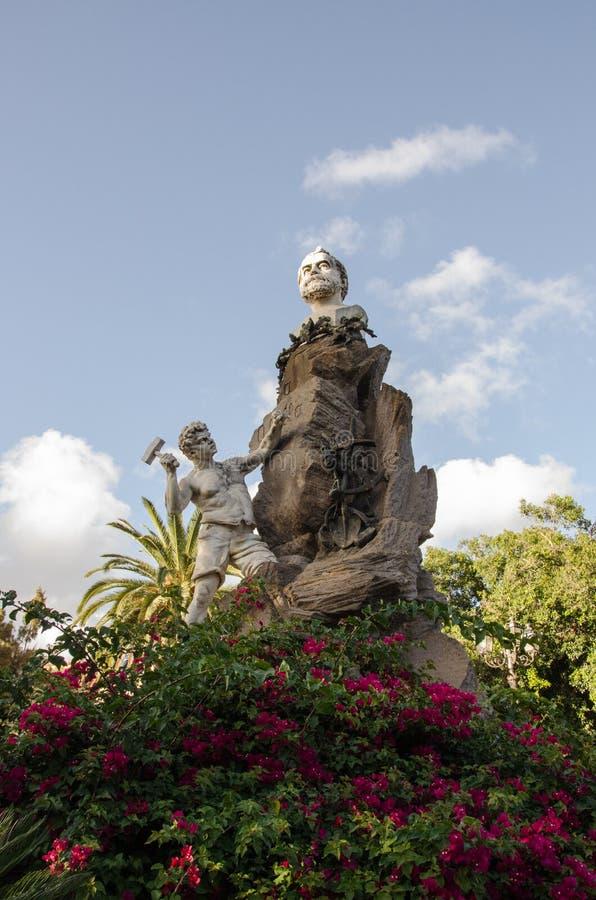 伊格莱斯,镇,撒丁岛,意大利,欧洲的老部分 免版税库存图片