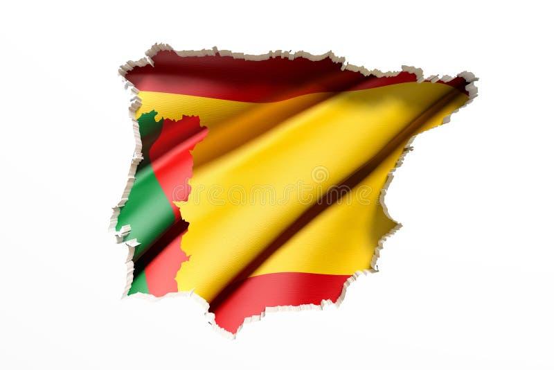 伊比利亚半岛地图 皇族释放例证