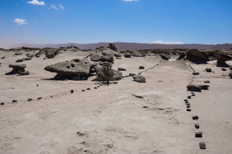 伊沙瓜拉斯托在瓦尔de la月/月球,阿根廷的岩层 库存图片