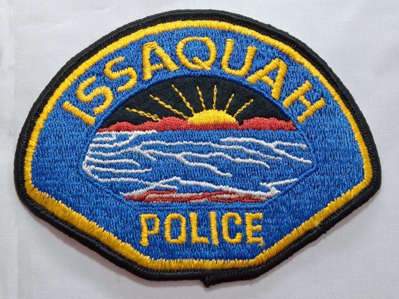 伊瑟阔警察局的肩章在华盛顿 库存图片