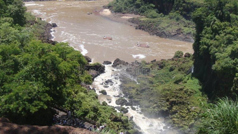 伊瓜苏瀑布在阿根廷 库存图片