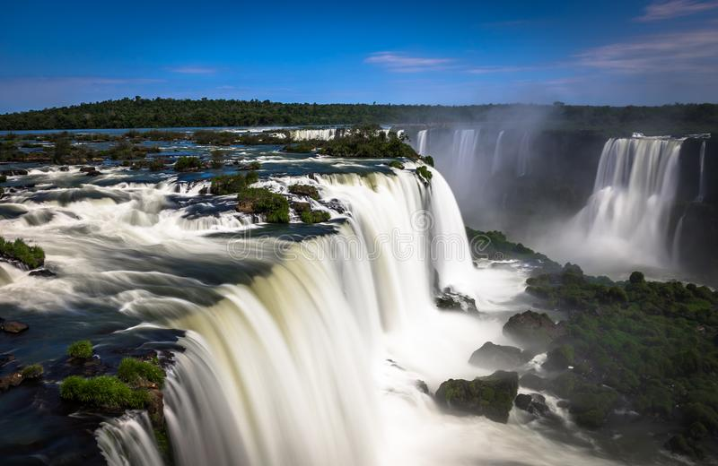 伊瓜苏瀑布密林阿根廷巴西 免版税库存图片