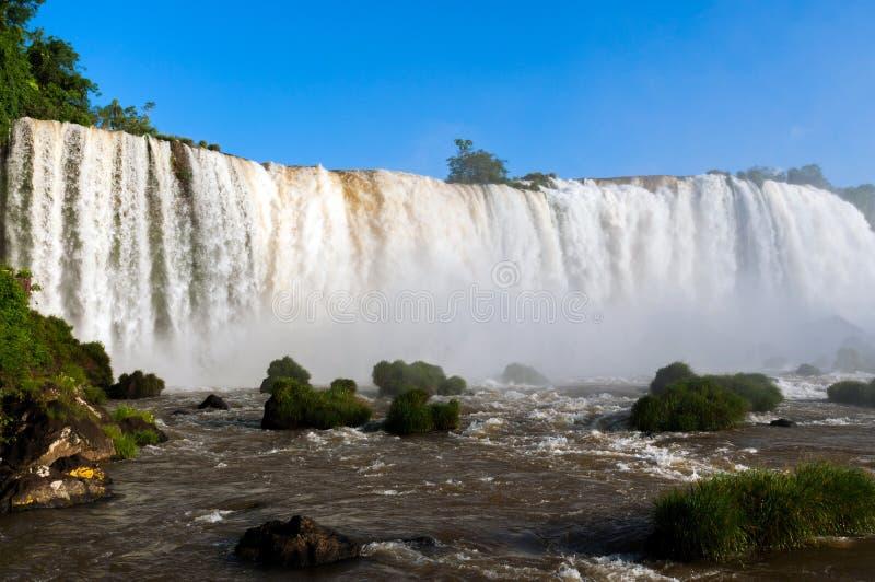 伊瓜苏瀑布是瀑布最多的系列在行星的 库存图片